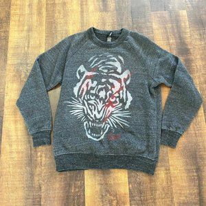 Obey Gray tiger Crew Neck Sweatshirt